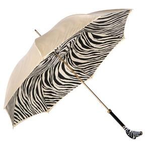 Зонт-трость Pasotti Crema Zebra Lux фото-2