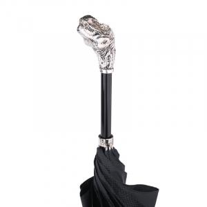 Зонт-трость Pasotti Dinosaur Silver Grono Black фото-3
