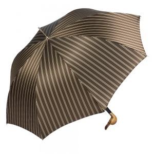 Зонт-трость Pasotti Duck Legno Double Stripes фото-4