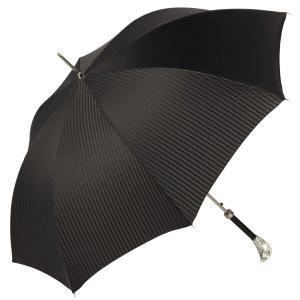 Зонт-трость Pasotti Falcon Silver Rombo Black фото-3