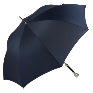 Зонт-трость Pasotti Ferro Silver Oxford Dark Blu фото-3