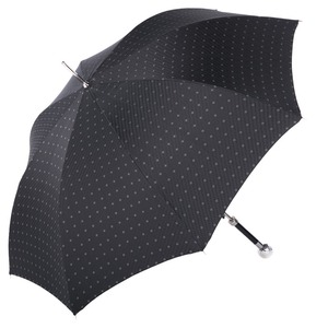 Зонт-трость Pasotti Golf Silver Rombo Black фото-3