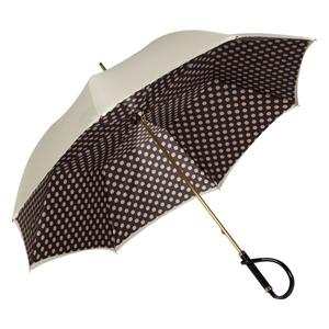 Зонт-трость Pasotti Ivory Pois Nero Plastica фото-3