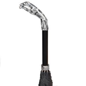 Зонт-трость Pasotti Jaguar Silver Cell Black фото-3