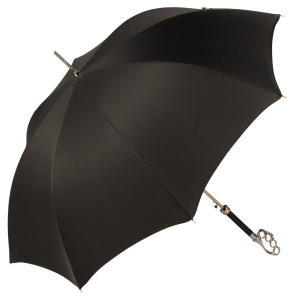 Зонт-трость Pasotti Kostet Silver StripesS Black фото-3