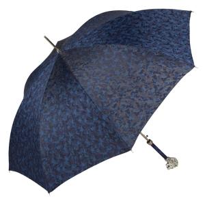 Зонт-трость Pasotti Leone Silver Reflection Blu фото-3