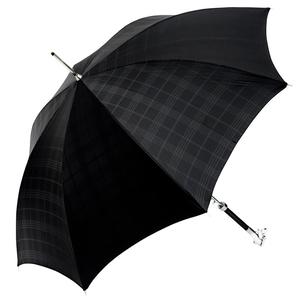 Зонт-трость Pasotti Labradore Silver Cell Black фото-8