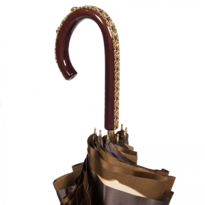 Зонт-трость Pasotti Marrone Georgin Beige Plastica фото-2