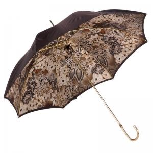 Зонт-трость Pasotti Marrone Novita Auto Oro фото-3