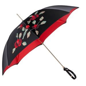 Зонт-трость Pasotti Nero Application Rosso Plastica фото-3