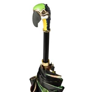 Зонт-трость Pasotti Nero Tropacal Pappagallo Lux фото-5