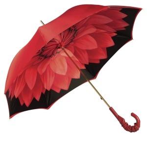 Зонт-трость Pasotti Rosso Georgin Pelle фото-3
