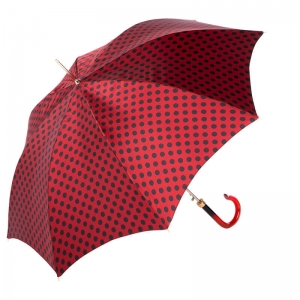 Зонт-трость Pasotti Uno Pois Rosso/Nero фото-3