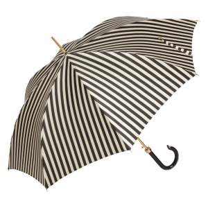 Зонт-трость Pasotti Uno Stripes Nero Beige Plastica фото-3