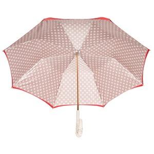 Зонт-трость Pasotti Rosso Pois Ivory Pelle фото-3