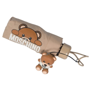 Зонт складной Moschino 8194-SUPERMINID Hidden Teddy Beige фото-4