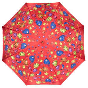 Зонт-трость Baldinini 17-LA Diamante long Rosso фото-2