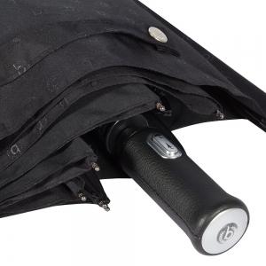 Зонт складной Bugatti 743069-OC Stamp Black фото-3