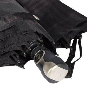 Зонт складной Bugatti 74662001-OC Check Black фото-3