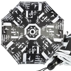 Зонт складной Ferre 6034-OC Symbol Black/White фото-1