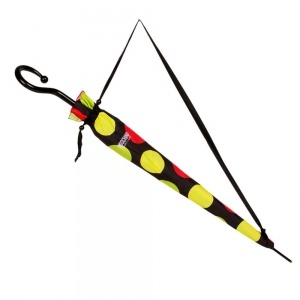 Зонт-трость Moschino 417-61AUTOA Maxi Pois long Black фото-3
