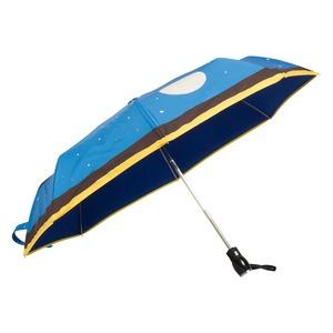 Зонт складной Moschino 7022-OCF Olivia Juliet Blue фото-3