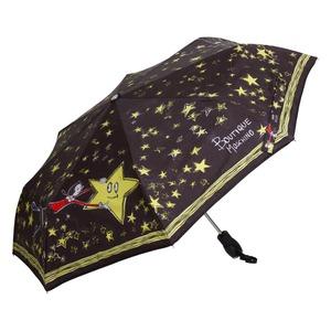 Зонт складной Moschino 7036-OCA Olivia Stars Black фото-2