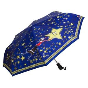 Зонт складной Moschino 7036-OCF Olivia Stars Blue фото-2