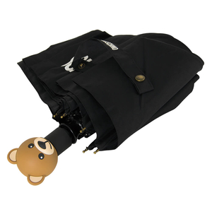 Зонт складной M 8002-OCA Teddy Logo Black фото-3