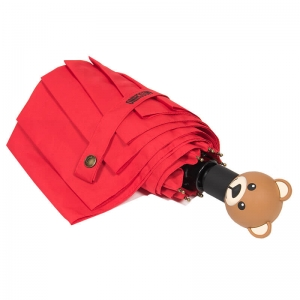 Зонт складной Moschino 8002-OCC Teddy Logo Red фото-3