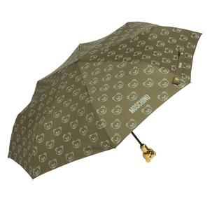 Зонт складной Moschino 8043-OCM Monobear Gold Military Green фото-2