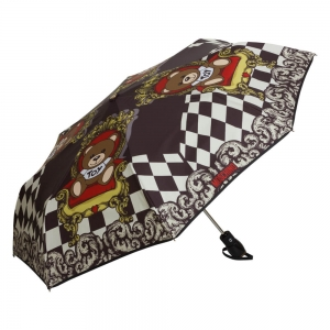 Зонт складной Moschino 8144-OCA Bear on a Chair Black фото-2