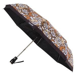 Зонт складной M 8232-OCA Teddy Animalier Black фото-2
