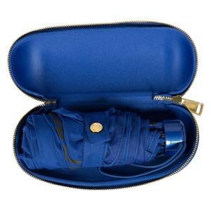 Зонт складной Moschino 8020-SUPERMINIF HEART LOGO BLUE фото-3