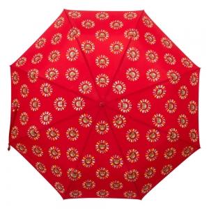 Зонт складной Moschino 8059-OCC Big Bear Circles Red фото-3