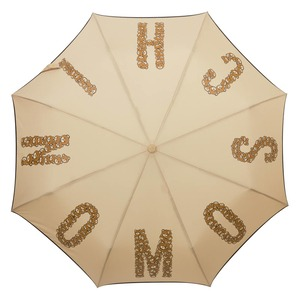 Зонт складной Moschino 8120-OCD Big Bear Letters Dark Beige фото-2