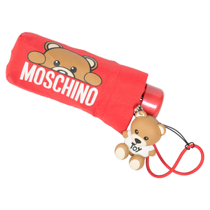 Зонт складной Moschino 8194-SUPERMINIC Hidden Teddy Red фото-3