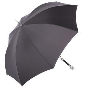 Зонт-трость Pasotti Monkey Silver Onda Black фото-3