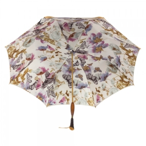 Зонт-трость Pasotti Becolore Beige Butterfly Albena Swar фото-3