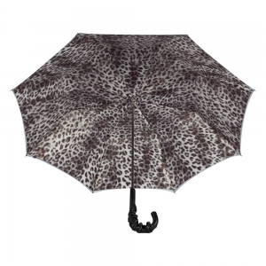 Зонт-трость Pasotti Becolore Grigio Leo Pelle  фото-3