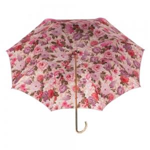 Зонт-трость Pasotti Becolore Rosa Siringo Oro Dentell фото-3