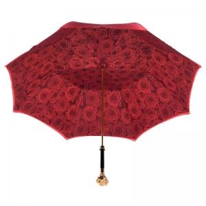 Зонт-трость Pasotti Becolore Rosso Rosa Oro Roza фото-4
