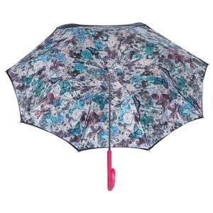 Зонт-трость Pasotti Blu Butterfly Biruza Original фото-3