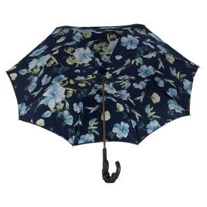 Зонт-трость Pasotti Blu Magnolia Pelle фото-3