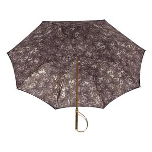 Зонт-трость Pasotti Blu Paisley Brown Rapira Oro фото-3