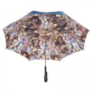 Зонт-трость Pasotti Blu Paradise Pelle фото-4