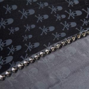 Зонт-трость Pasotti Capo Silver Picco Sculls Nero фото-4