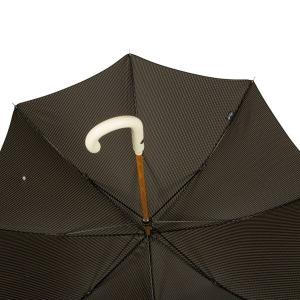 Зонт-трость Pasotti PelleBianco/Legno Punto Black фото-3