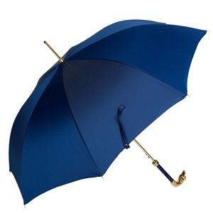 Зонт-трость Pasotti Eagle Gold Oxford Blu  фото-4