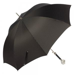 Зонт-трость Pasotti Leone Silver Rombes Black фото-3
